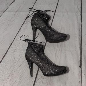 Thalia Sodi Sparkle Booties with Stiletto Heel